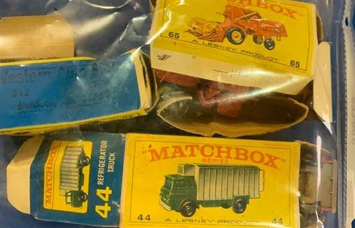 Matchbox cars in plastic